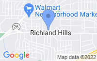 Map of Richland Hills TX
