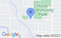 Map of Hurst TX