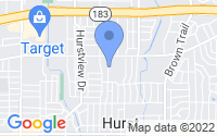 Map of Hurst TX