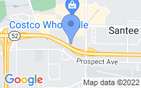 Map of Santee CA