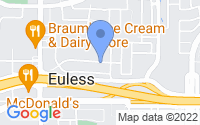 Map of Euless TX