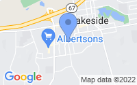 Map of Lakeside CA