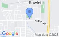 Map of Rowlett TX