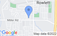 Map of Rowlett TX
