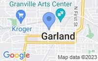 Map of Garland TX