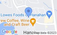 Map of Hanahan SC