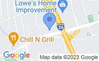 Map of North Charleston SC