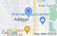 Map of Addison TX