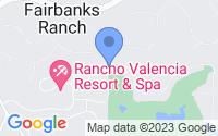 Map of Rancho Santa Fe CA