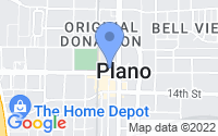 Map of Plano TX