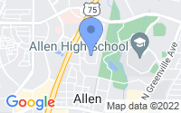 Map of Allen TX