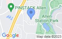 Map of Allen TX