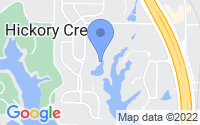 Map of Hickory Creek TX
