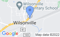 Map of Wilsonville AL