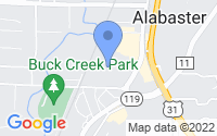 Map of Alabaster AL