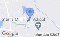 Map of Fayetteville GA