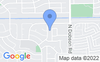 Map of Chandler AZ