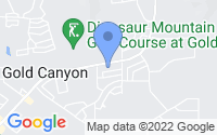 Map of Gold Canyon AZ