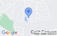 Map of Gold Canyon AZ