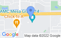 Map of Mesa AZ