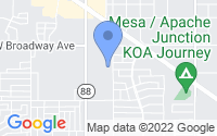 Map of Apache Junction AZ