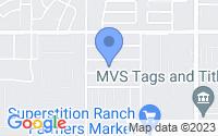 Map of Apache Junction AZ
