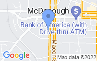 Map of McDonough GA