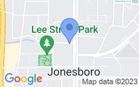 Map of Jonesboro GA