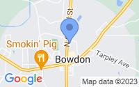 Map of Bowdon GA