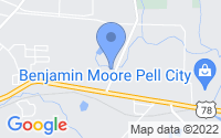 Map of Pell City AL