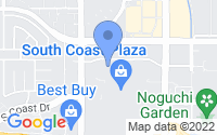 Map of Costa Mesa CA