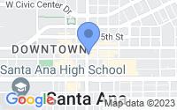 Map of Santa Ana CA