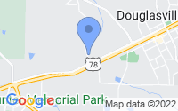 Map of Douglasville GA