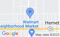 Map of Hemet CA