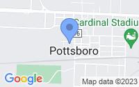 Map of Pottsboro TX