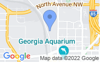 Map of Atlanta GA