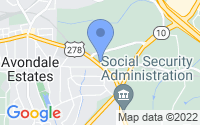 Map of Avondale Estates GA