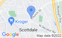 Map of Scottdale GA