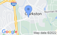 Map of Clarkston GA