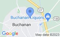 Map of Buchanan GA