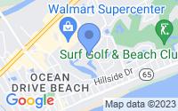 Map of North Myrtle Beach SC