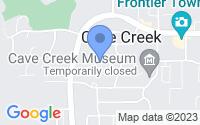 Map of Cave Creek AZ