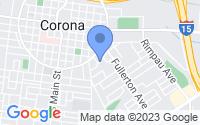 Map of Corona CA