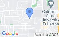 Map of Fullerton CA