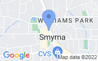 Map of Smyrna GA