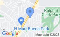 Map of Buena Park CA