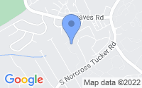Map of Tucker GA