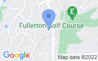 Map of Fullerton CA