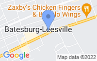 Map of Batesburg-Leesville SC