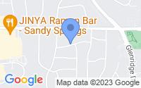 Map of Sandy Springs GA